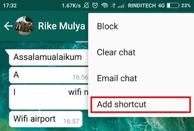 Cara Membuat Shortcut Langsung ke Chat WhatsApp yang Diinginkan