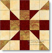 Crazy House quilt block