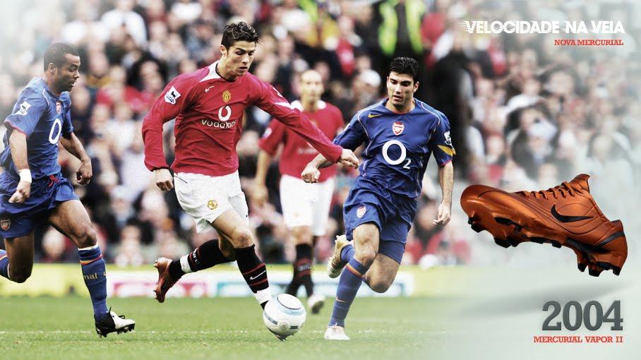 48e553fd7a Ronaldo fenômeno deu lugar ao português recém-chegado ao alto nível do  futebol mundial