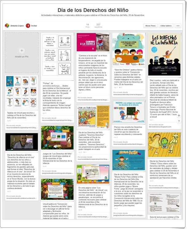 Conjunto de juegos y actividades sobre  el Día de los Derechos del Niño para Educación Primaria