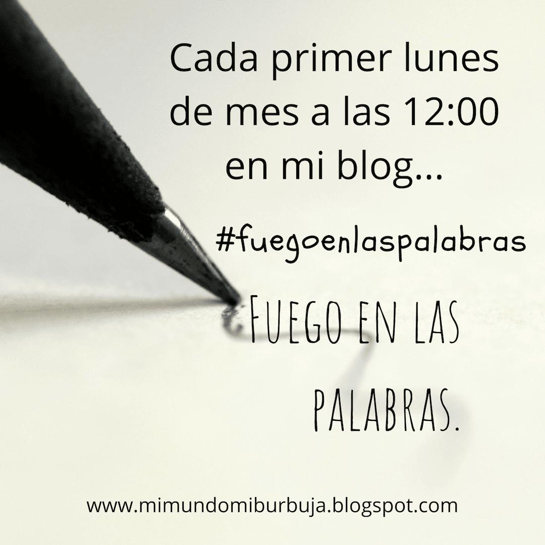 Cartel oficial de #Fuegoenlaspalabras