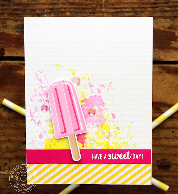Sunny Studio Stamps: Perfect Popsicle Summery Popsicle Card by Vanessa Menhorn
