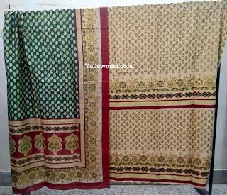 Designer Pure Silk Hand  Block Print Suits