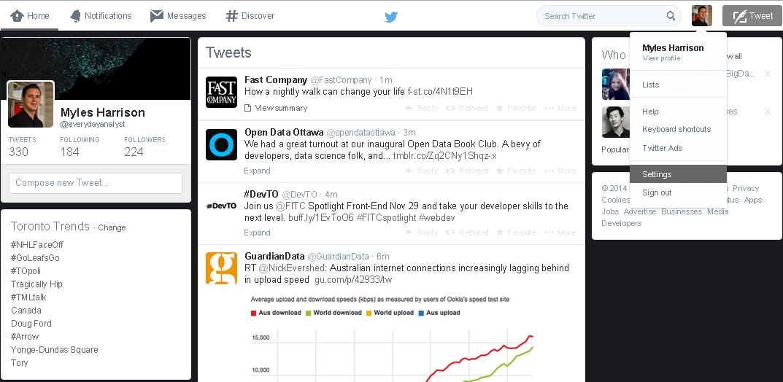Twitter Pop-up Analytics