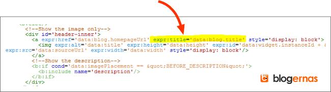 Cara Menyisipkan Title Tag pada Gambar Header Blog