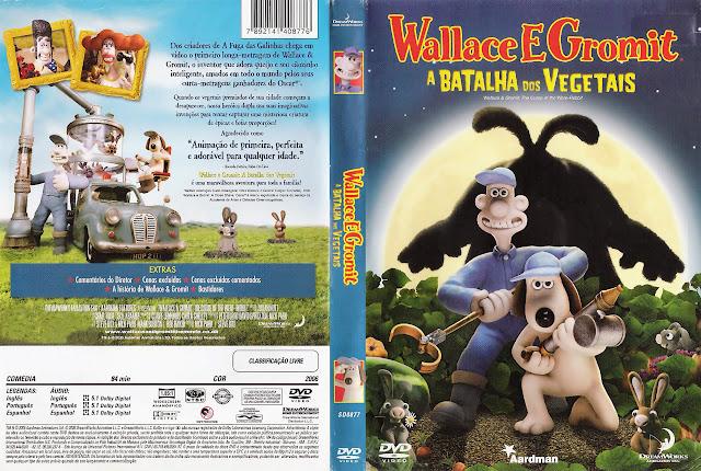 Capa DVD Wallace e Gromit a BATALHA dos VEGETAIS