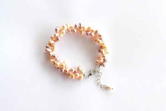 SHIN Handmade Jewelry: Twisted Freshwater Cultured Pearl Bracelet