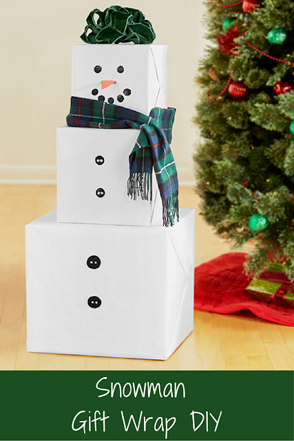Snowman DIY Christmas Gift Wrapping Idea