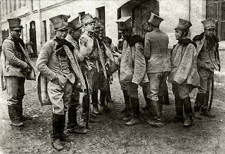 WW2 military uniforms - group of Polish Uhlans