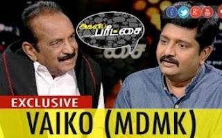 Agni Paritchai 03-12-2016 Exclusive Interview with Vaiko (General Secretary, MDMK)