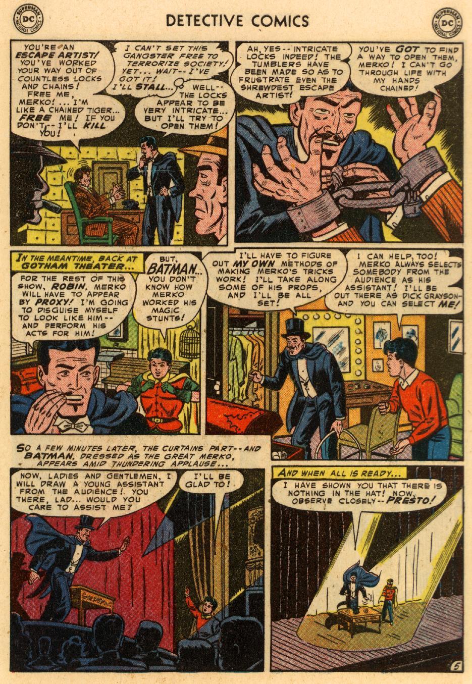 Read online Detective Comics (1937) comic -  Issue #207 - 6
