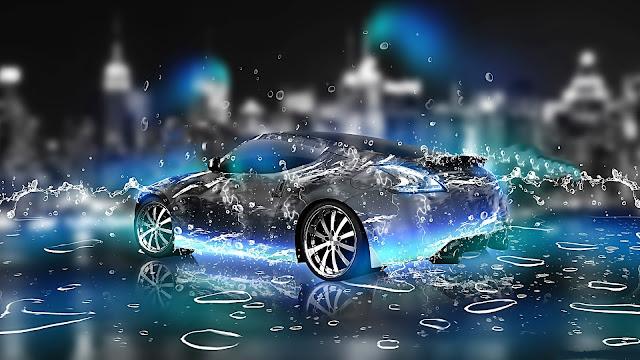 siêu xe đi xuyên qua nước