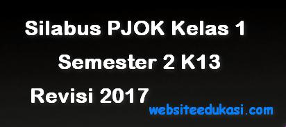 Silabus PJOK Kelas 1 Semester 2 K13 Revisi 2017