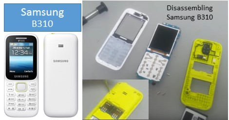 How to Disassembling Samsung Guru Music 2 SM B310