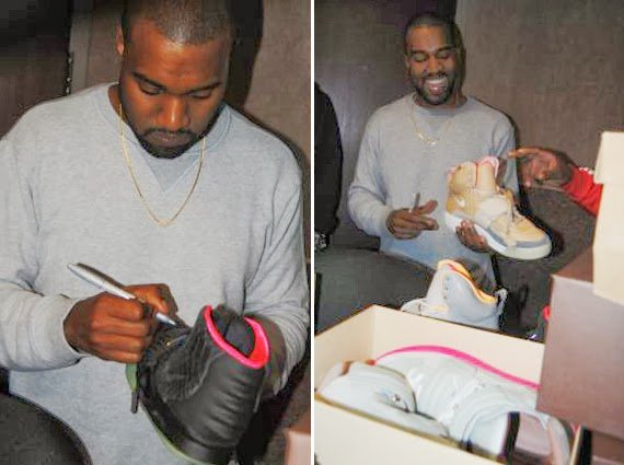 1bbf2be06fa5 Kanye West Autographs Collection   More. Noted sneakerhead DJ Greg Street s  show and signed ...