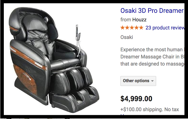 A $5000 pro-dreamer massage chair. I accept your lack of knowledge. marchmatron.com