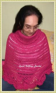 free crochet pattern, free crochet cowled poncho pattern, free crochet poncho pattern