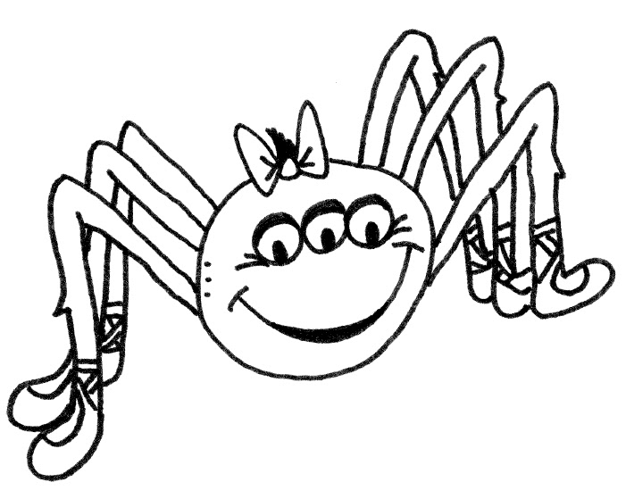 Itsy Bitsy Spider Coloring Coloring Pages