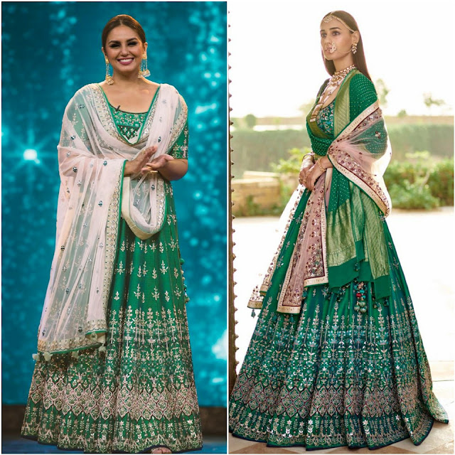 Floor Length Green Bridal Ensemble by Anita Dongre