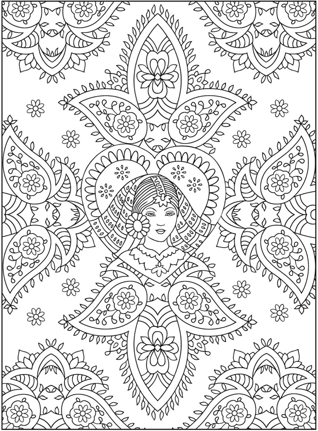 mehndi designs coloring book pages - photo#18