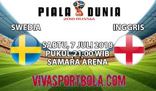 Prediksi Bola Swedia vs Inggris 7 Juli 2018
