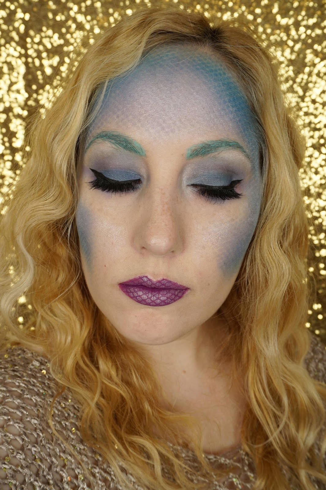 halloween makeup mermaid fishnet