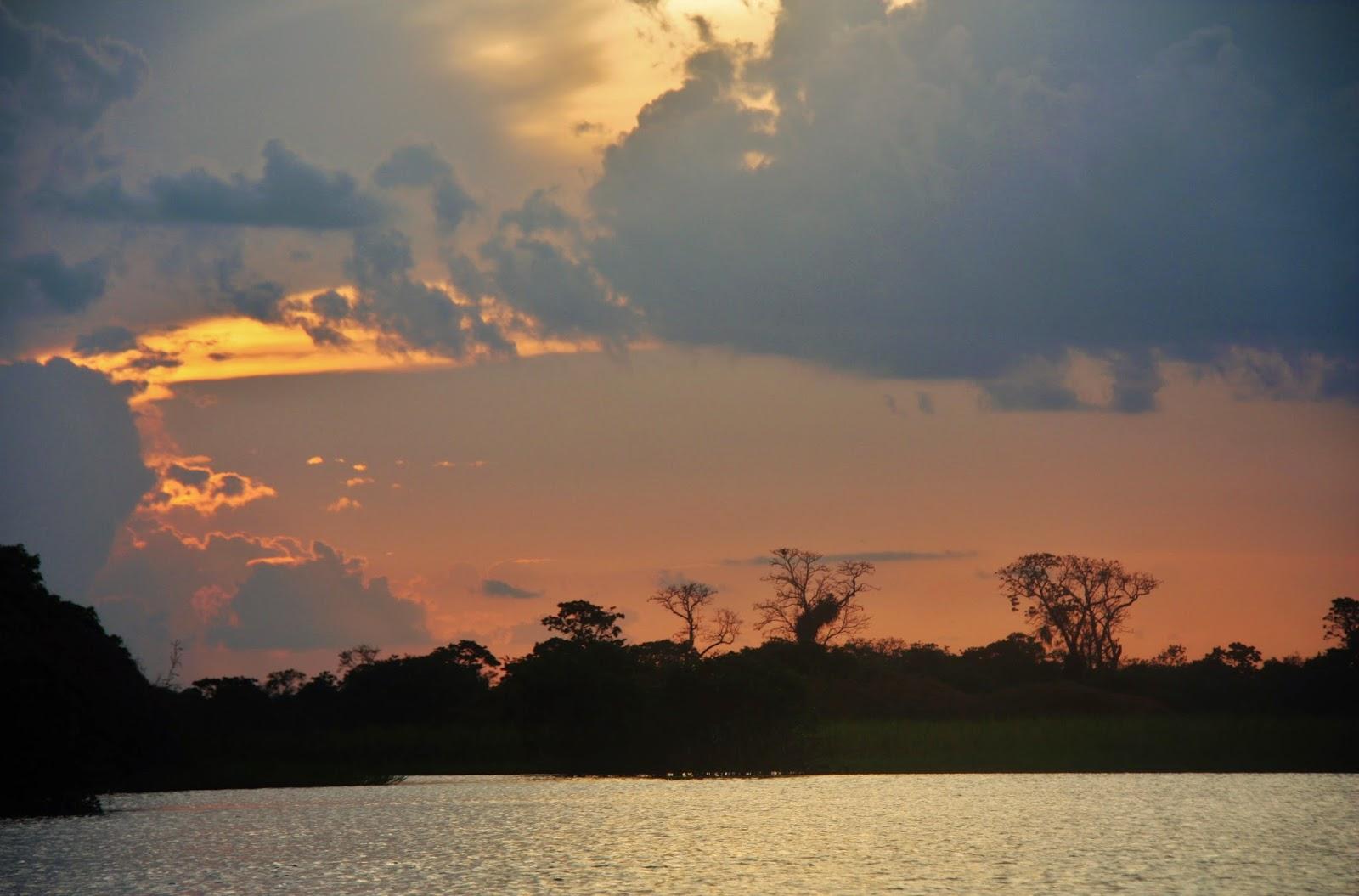 Entardecer na Reserva de Desenvolvimento Sustentável Mamirauá