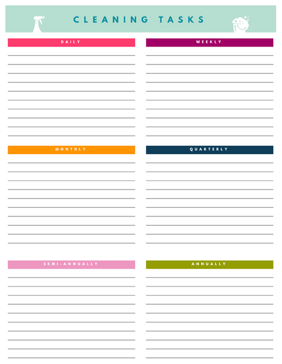 photograph relating to Free Printable Home Organization Worksheets known as IHeart Planning: No cost Printables