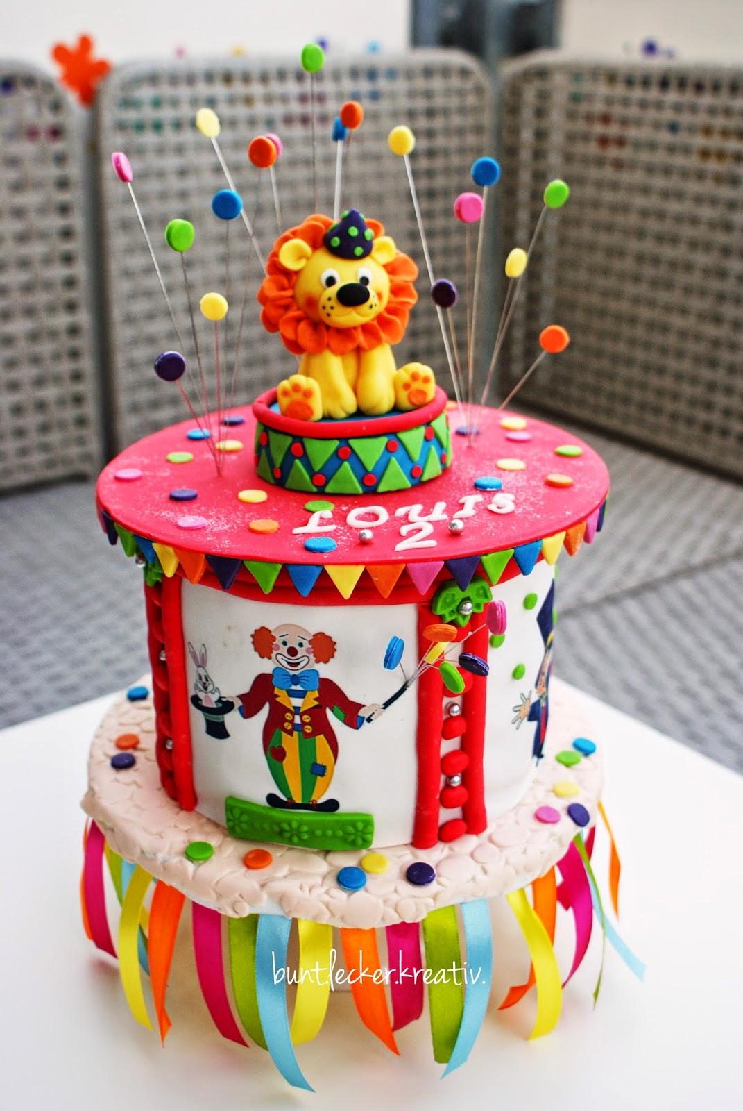 Zirkus Torte  buntleckerkreativ