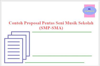 Contoh Proposal Pentas Seni Musik Sekolah (SMP-SMA)