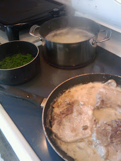 Pork Chops with Mushroom Sauce - Manda's Meals