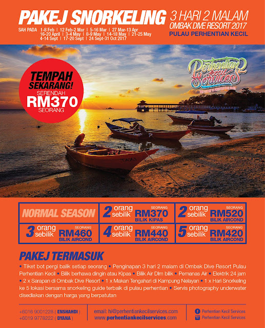 pakej ombak resort pulau perhentian kecil , pakej pulau perhentian 2017 , pakej perhentian 2018