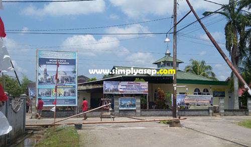 SIAP : Masjid Babussalam Duta Bandara Kubu Raya terus berbenah dalam rangka persiapan proses peletakan batu pertama pembangunan Masjid.  Foto Asep Haryono