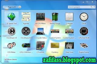 Widget Keren di Windows 7(zafifass.blogspot.com)