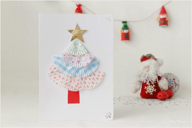 postal-navidad-diy-materiales-reciclados-abeto-moldes-magdalenas