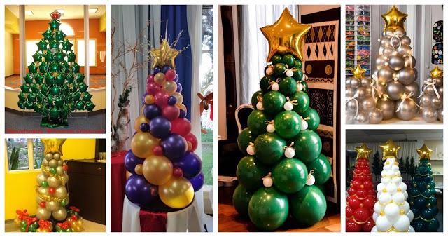 árboles-navideños-globos