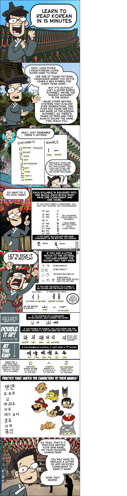 study korean together learn to read korean in 15 minutes webcomic