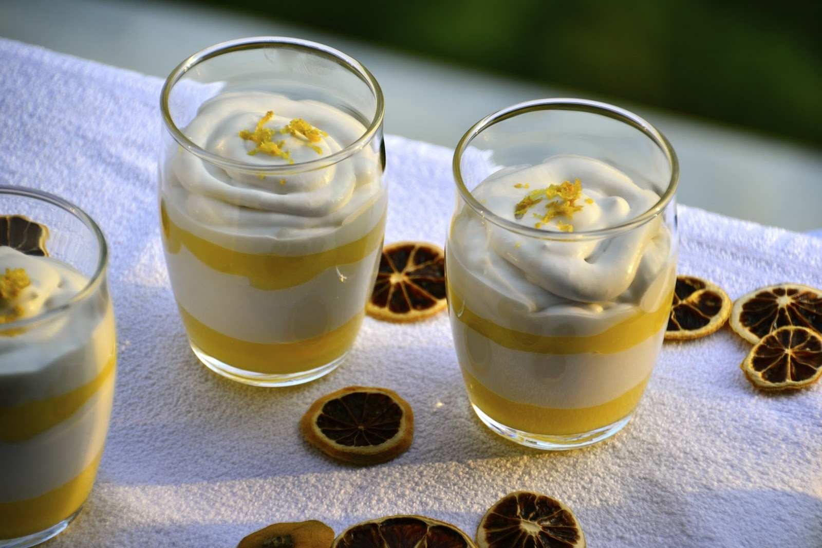 Postre de limón y coco bajo en calorías