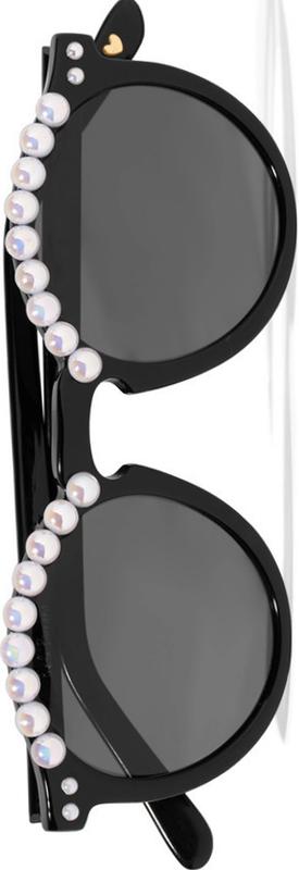 FREDA BANANA Tara Round-Frame Embellished Acetate Sunglasses