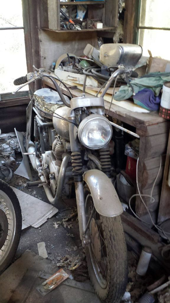Royal Enfield Interceptor in as found condition.