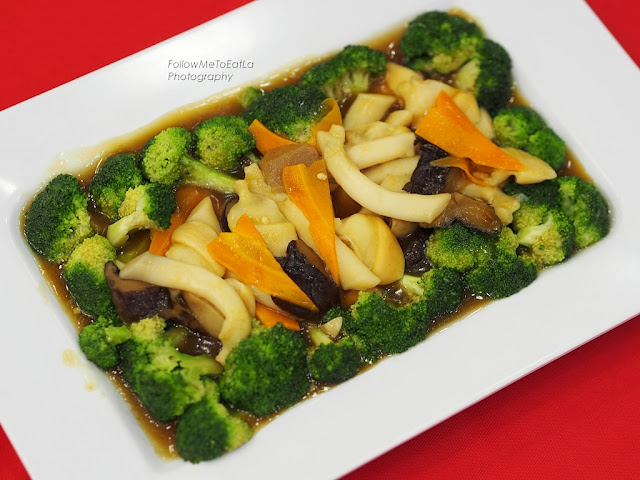 Broccoli with Sea Asparagus and Pacific Clam