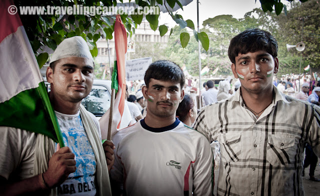 While observing various things at Ram Leela Ground, three folks standing nearby asked me click their photograph in their special style :) Such places/events give another opportunity to interact with various type pf people as well. Ram Leela ground was full of passionate folks as well as people who were there for unknown reasons.. That is what I felt and I can be wrong !
