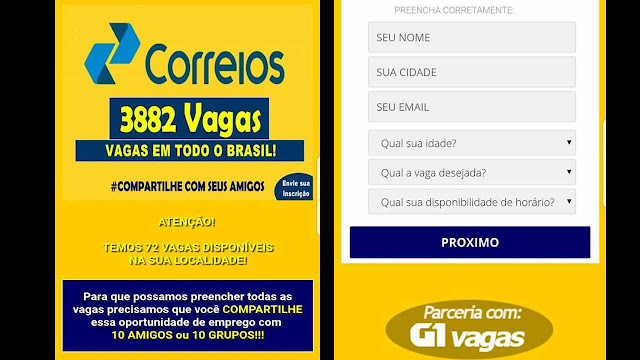 Correios abre 3822 vagas em todo o Brasil. Envie sua inscrição.