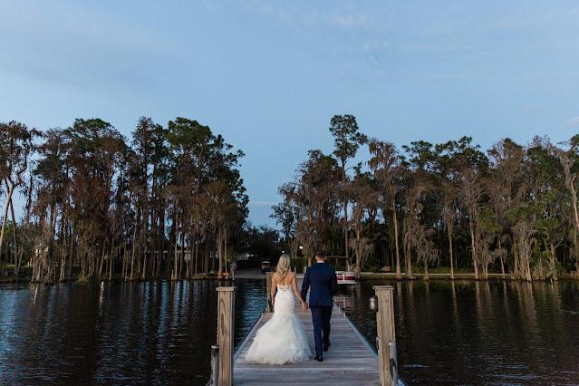bride and groom lake nona