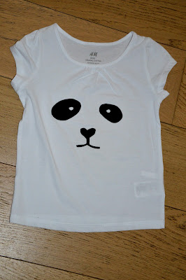 flocken, panda, T-shirt, Kawaii