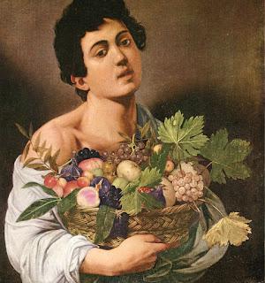 """Caravaggio: """"Garoto com cesto de frutas"""""""