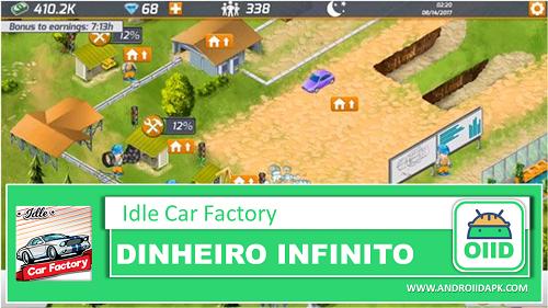 Idle Car Factory   – APK MOD HACK – Dinheiro Infinito