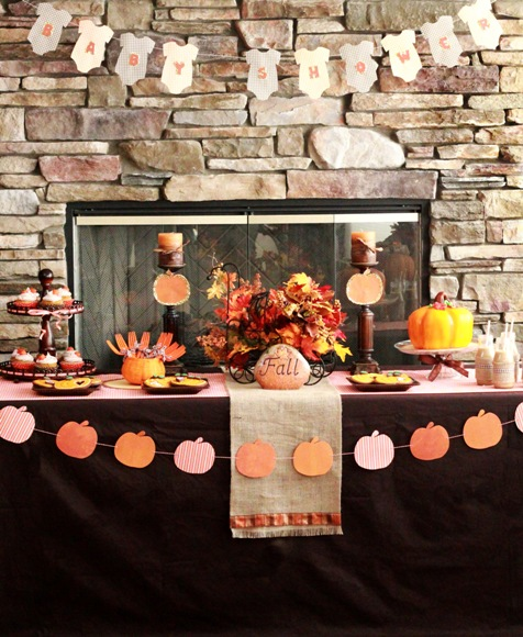 Little Pumpkin Baby Shower Party Ideas - via BirdsParty.com