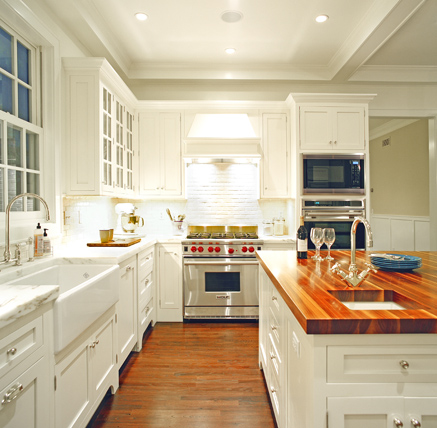 White Kitchen Butcher Block : Color Outside the Lines: Kitchen Inspiration Month: Day Two - Butcher Block Counters