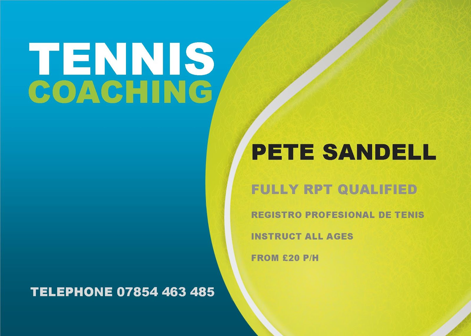 Tennis Coaching Business Cards   Best Business Cards